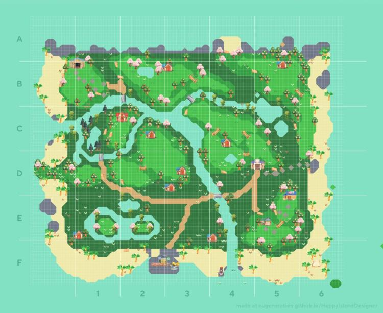 animal crossing new horizons natural island ideas