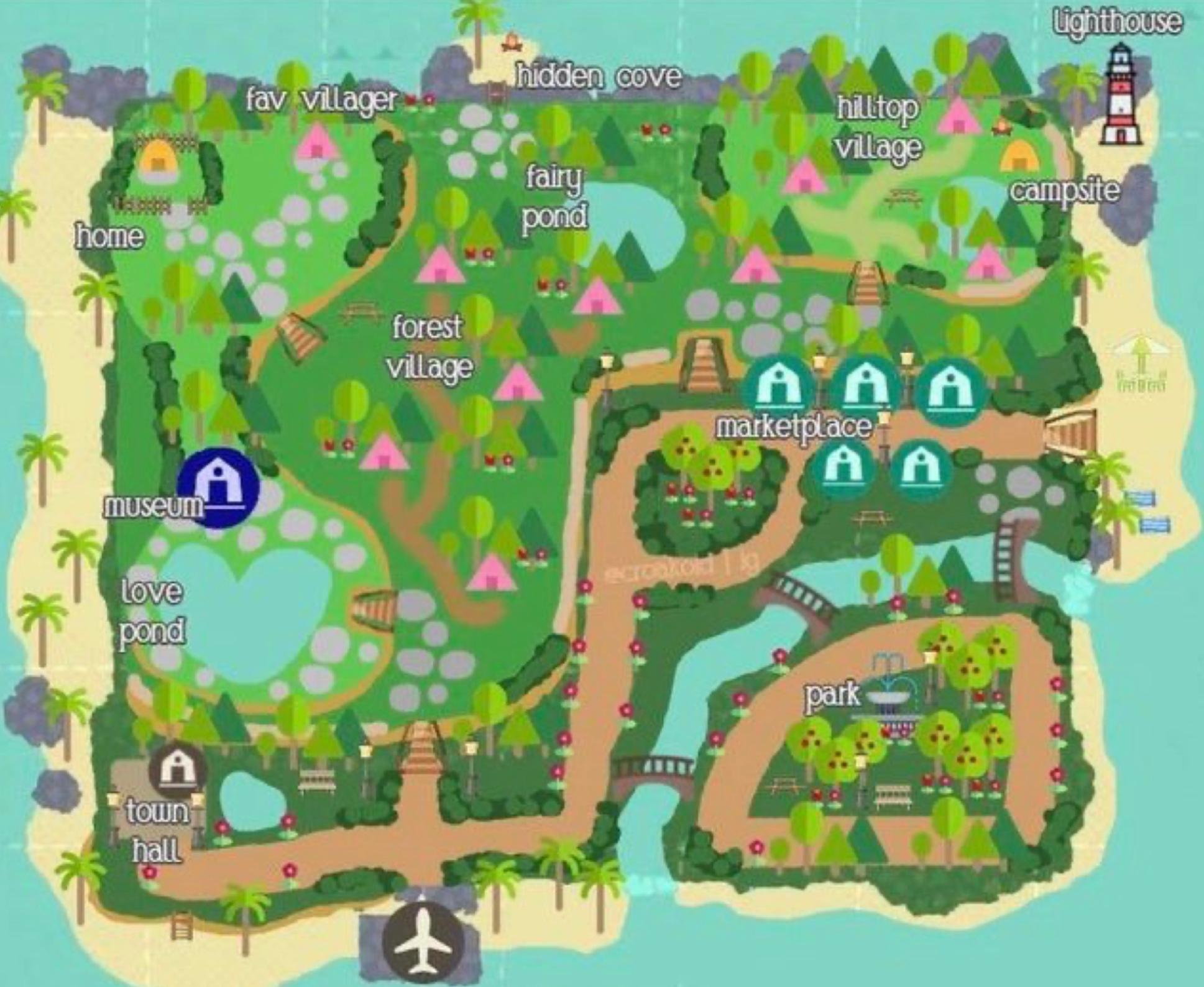 Animal Crossing New Horizons Map Design Ideas - CrossingCharm