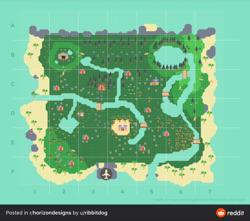 Animal Crossing New Horizons Map Design Ideas Crossingcharm