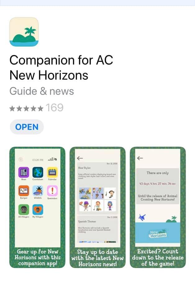 Companion for AC New Horizons phone app