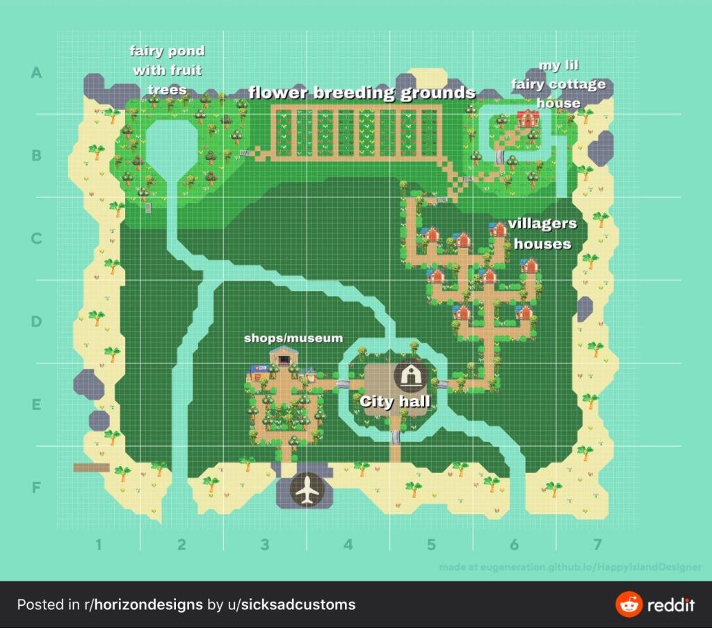 Animal Crossing New Horizons Map Design Ideas Crossingcharm