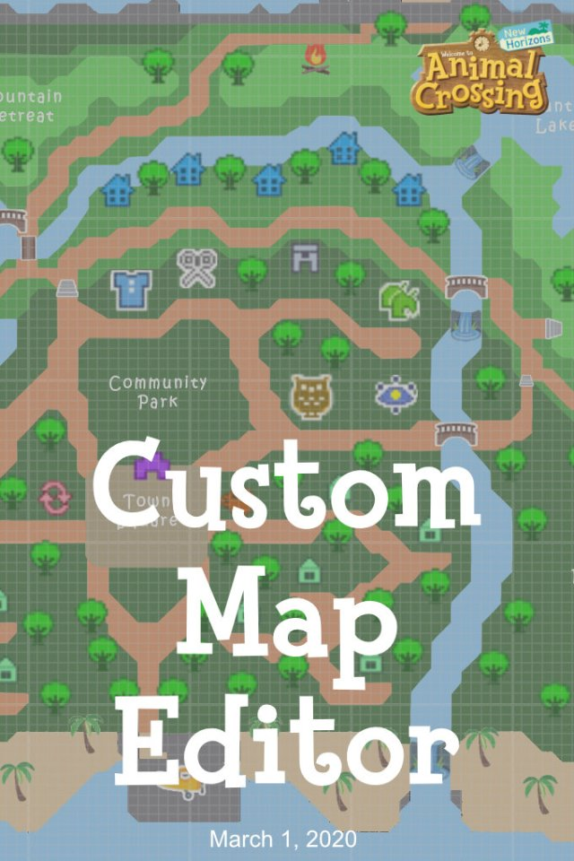 Fan Made Animal Crossing New Horizons Map Planner Google Sheets