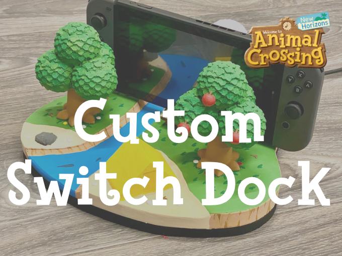 Custom Animal Crossing Nintendo Switch Dock Animal Crossing New