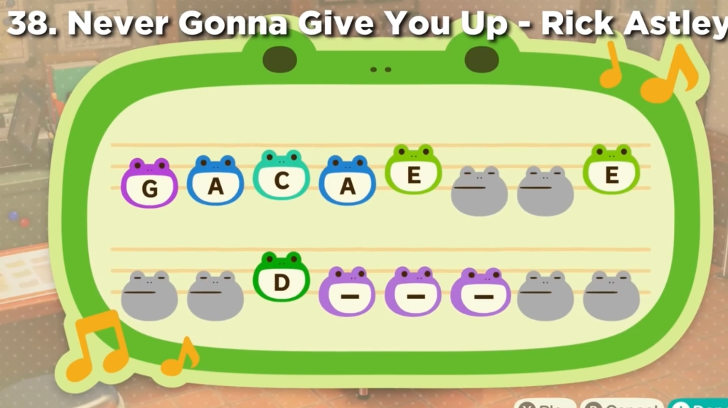 Animal Crossing Island Tunes - Never Gonna Give You Up Rick Astley