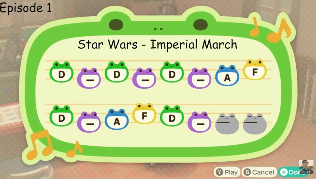Animal Crossing Island Tunes - Star Wars Imperial March Song